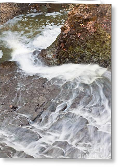 Buttermilk Falls Greeting Cards - Swirly Plunge Greeting Card by Jennifer Rice
