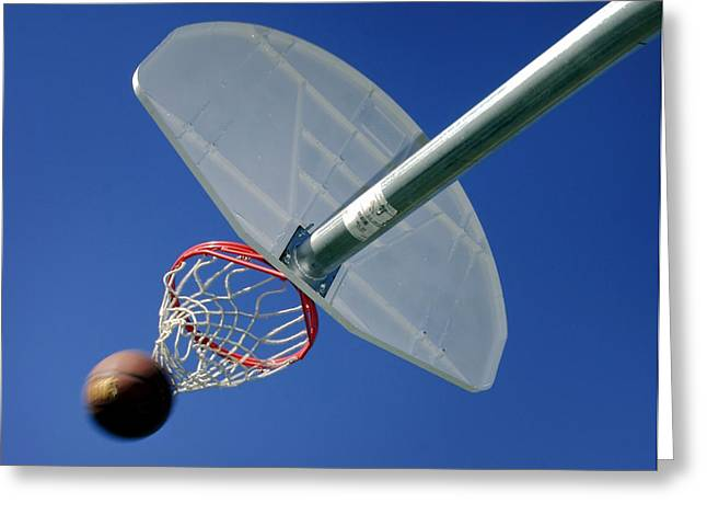 Basket Ball Game Greeting Cards - Swish  Greeting Card by David and Carol Kelly