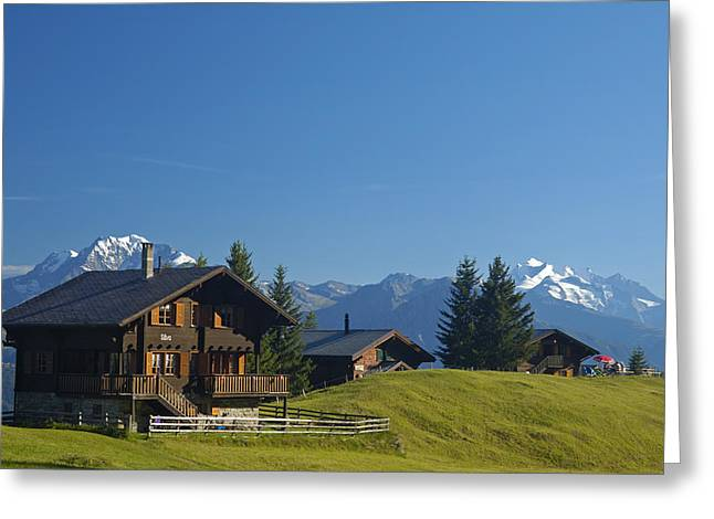 Chalet Greeting Cards - Swiss alps - beautiful chalets Greeting Card by Matthias Hauser