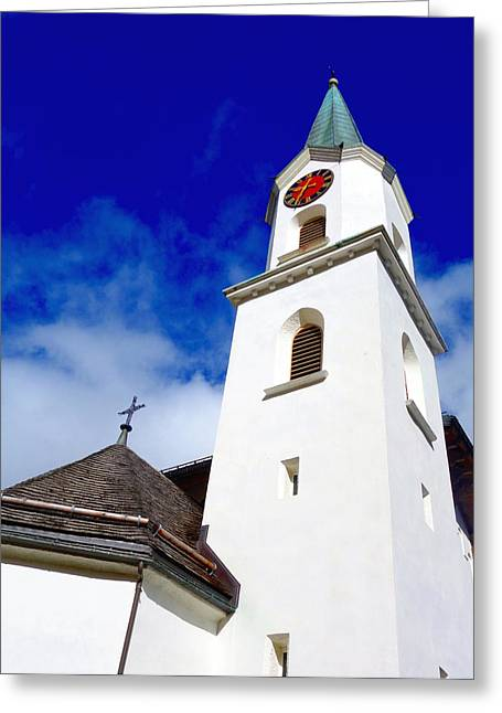 Swiss Cross Greeting Cards - Swiss Church Greeting Card by Valentino Visentini