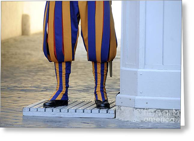 Swiss Guards. Vatican Greeting Card by BERNARD JAUBERT