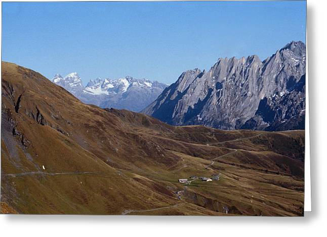 Swiss Landscape Greeting Card by Marcio Faustino