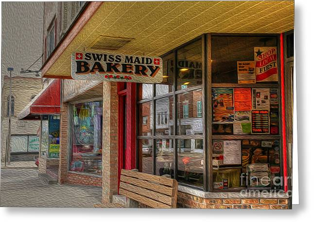Swiss Photographs Greeting Cards - Swiss Maid Bakery Greeting Card by David Bearden