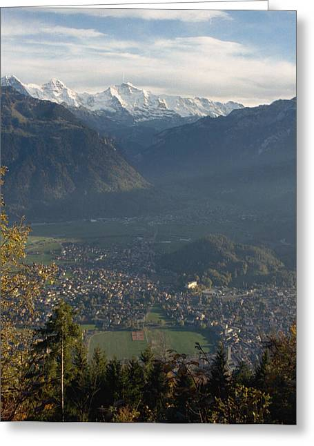 Switzerland Greeting Cards - Swiss scenary Greeting Card by Marcio Faustino