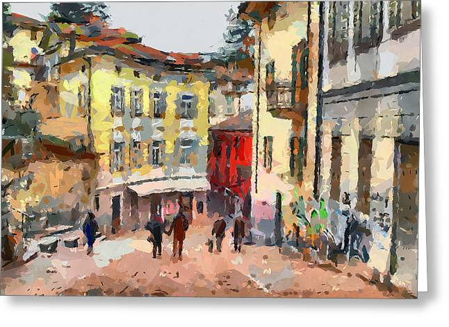 Swiss Greeting Cards - Swiss Town Greeting Card by Yury Malkov