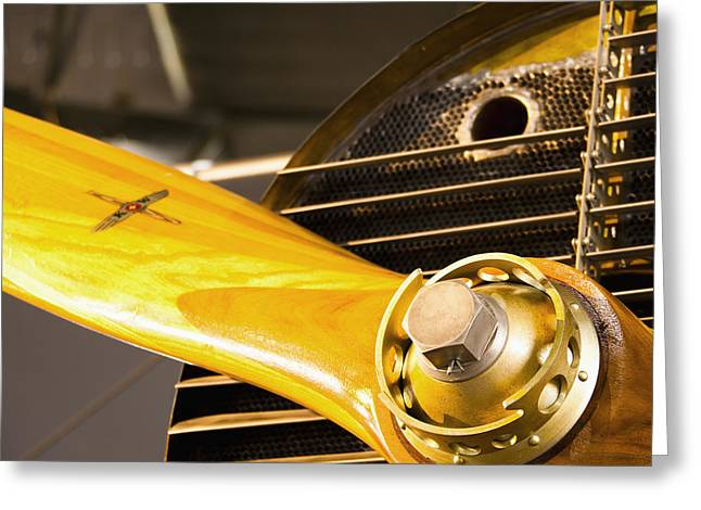Military Airplanes Greeting Cards - Switzerland, Close-up Of Propeller Greeting Card by Lars Froelich