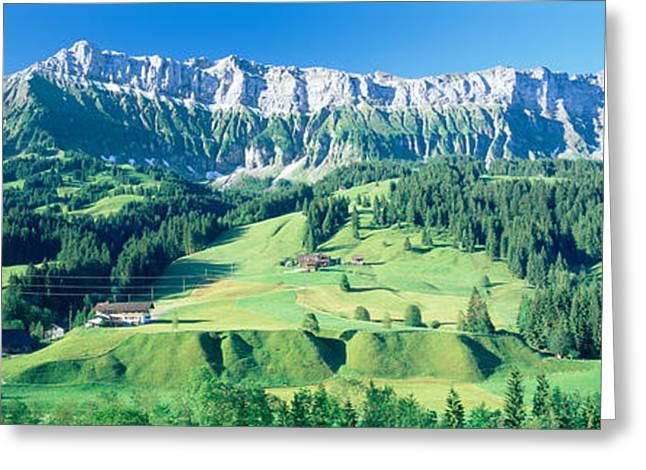 Chalet Greeting Cards - Switzerland, Emmental, High Angle View Greeting Card by Panoramic Images