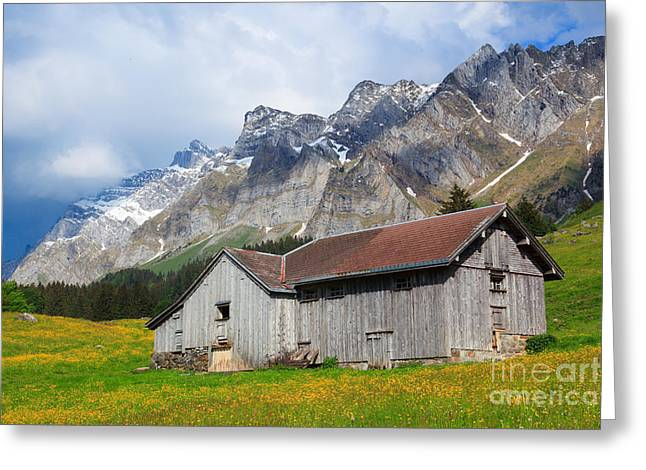 Wooden Building Greeting Cards - Switzerland Greeting Card by Patrick Frischknecht