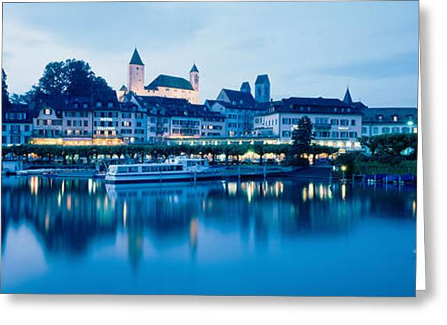 Commercial Photography Greeting Cards - Switzerland, Rapperswil, Lake Zurich Greeting Card by Panoramic Images