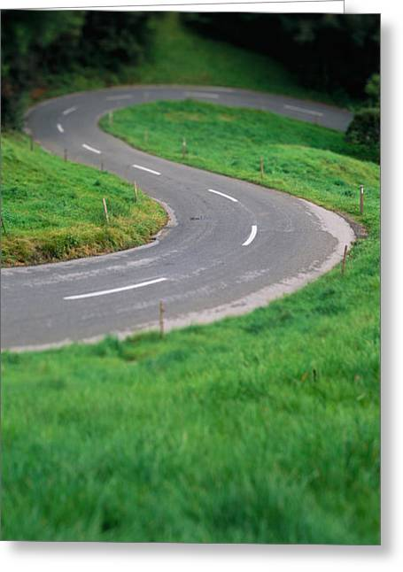 Undulating Greeting Cards - Switzerland, Road Greeting Card by Panoramic Images