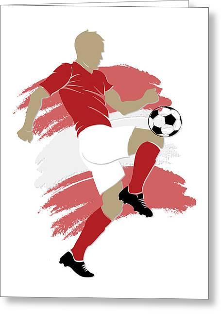 Scores Photographs Greeting Cards - Switzerland Soccer Player Greeting Card by Joe Hamilton