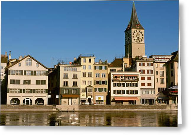 Zurich Greeting Cards - Switzerland, Zurich, Buildings Greeting Card by Panoramic Images