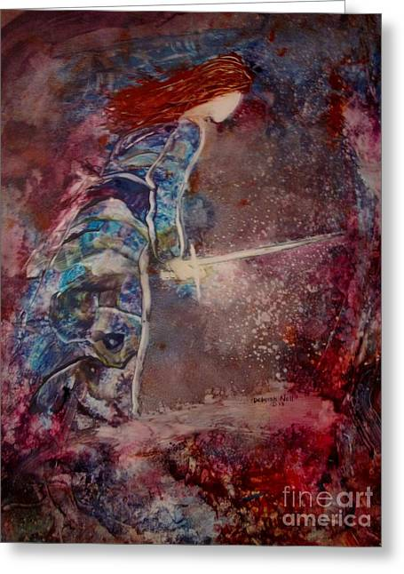 Warrior Bride Greeting Cards - Sword of Truth Greeting Card by Deborah Nell