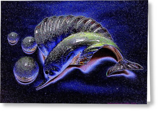 Swordfish Greeting Cards - Swordfish in the Indigo Sea Greeting Card by Peter Gumaer Ogden