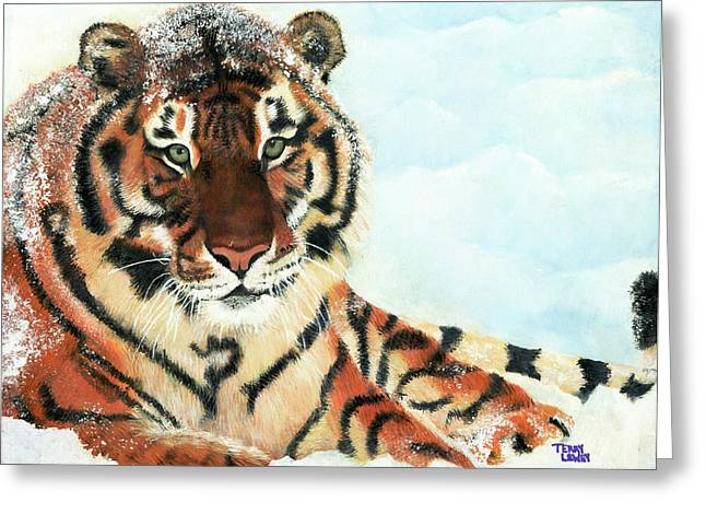 Syberian Greeting Cards - Syberian Tiger Greeting Card by Terry Lewey