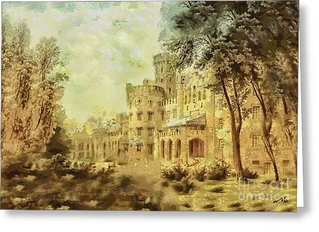 Forgotten Paintings Greeting Cards - Sybillas Palace Greeting Card by Mo T