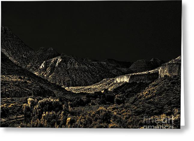 Monsoon Greeting Cards - Sycamore Canyon I Greeting Card by Arne Hansen