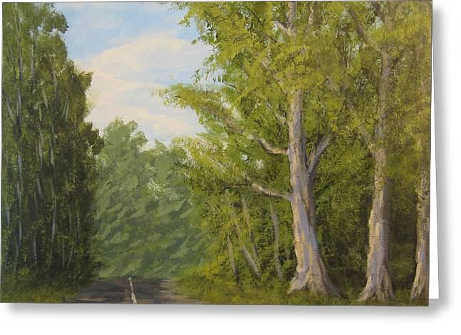 Sycamore Greeting Cards - Sycamore Drive Greeting Card by Matthew Hannum