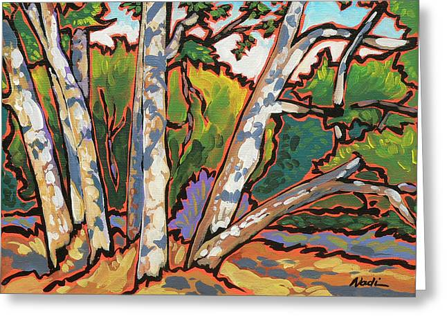 Nadi Spencer Greeting Cards - Sycamores Greeting Card by Nadi Spencer