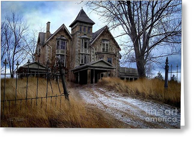 Haunted House Digital Art Greeting Cards - Sydenham Manor Greeting Card by Tom Straub