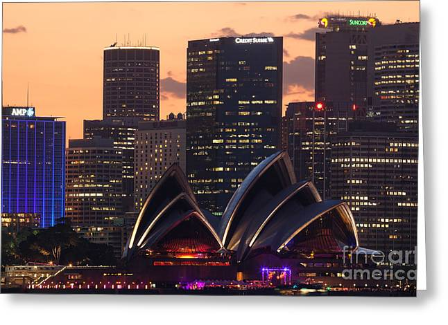 Australasia Greeting Cards - Sydney at sunset Greeting Card by Matteo Colombo