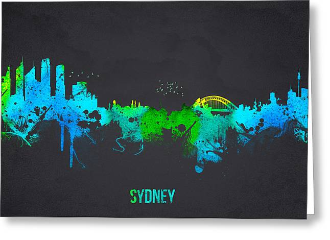 Historic Architecture Mixed Media Greeting Cards - Sydney Australia Greeting Card by Aged Pixel