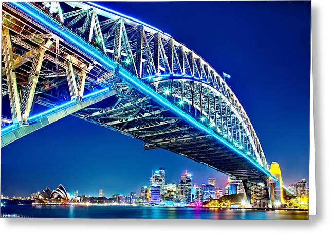 Winter Photos Photographs Greeting Cards - Sydney Blues Greeting Card by Az Jackson