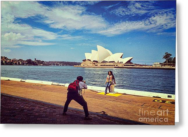 Mobile Phone Greeting Cards - Sydney Greeting Card by Colin and Linda McKie
