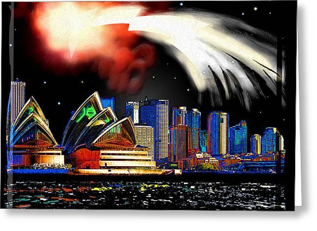 Imaginary City Greeting Cards - Sydney Greeting Card by Daniel Janda