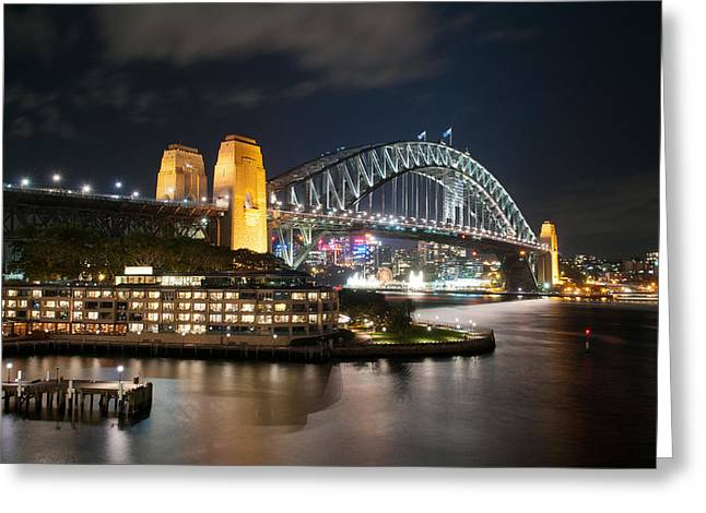 Coat Hanger Greeting Cards - Sydney Harbor Greeting Card by Andrew Periam