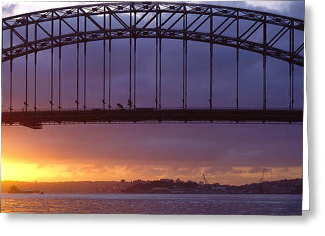 Strength Photographs Greeting Cards - Sydney Harbor Bridge, Sydney, New South Greeting Card by Panoramic Images