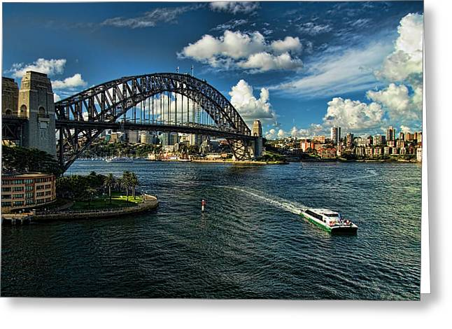 Sydney Harbour Greeting Cards - Sydney Harbour Bridge Greeting Card by David Smith