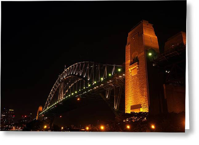 Coat Hanger Greeting Cards - Sydney Harbour Bridge Greeting Card by Justin Woodhouse