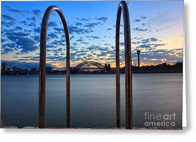 Balmain Greeting Cards - Sydney Harbour Bridge Greeting Card by Leah-Anne Thompson