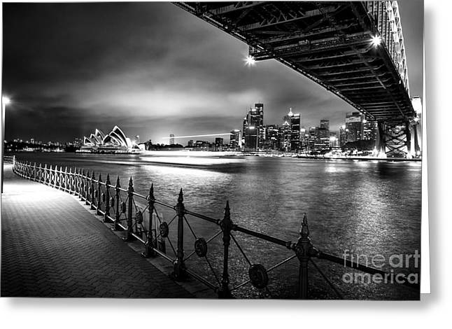 Long Exposure Greeting Cards - Sydney Harbour Ferries Greeting Card by Az Jackson