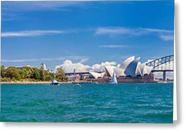 Long Exposure Greeting Cards - Sydney Harbour Skyline 1 Greeting Card by Az Jackson