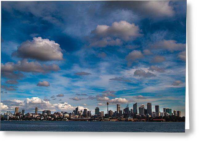 Australia Photographs Greeting Cards - Sydney on a good day Greeting Card by Constance Fein Harding