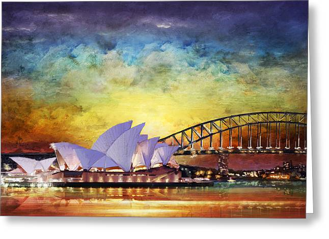 Barriers Greeting Cards - Sydney Opera House Greeting Card by Catf