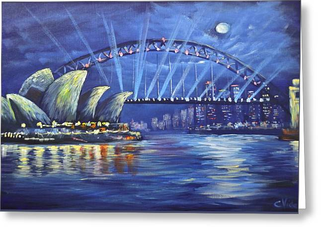 Photorealism Greeting Cards - Sydney Opera House Greeting Card by Christopher Vidal