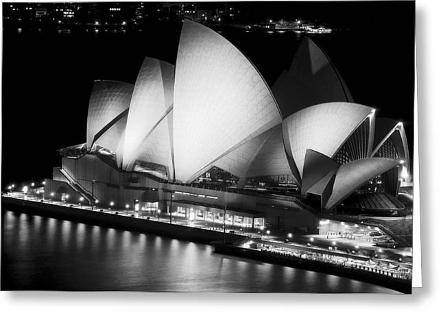 Forecourt Greeting Cards - Sydney Opera House Greeting Card by Photography  By Sai
