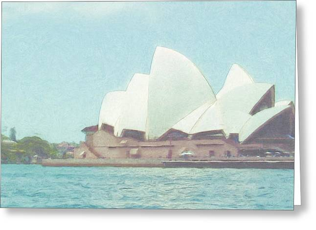 City Art Greeting Cards - Sydney Opera House Greeting Card by Tom Gowanlock