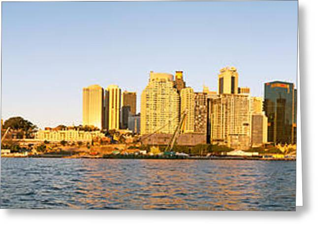 Nicholas Greeting Cards - Sydney Panorama from Balmain Peninsula Greeting Card by Nicholas Blackwell