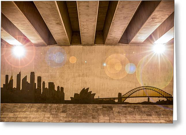 Industrial Concept Greeting Cards - Sydney Skyline Greeting Card by Semmick Photo