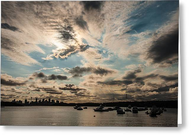 Wales Greeting Cards Greeting Cards - Sydney Sunset Greeting Card by Harry Spitz