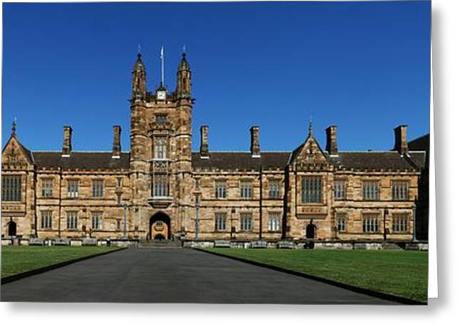 The Quadrangle Greeting Cards - Sydney Uni Greeting Card by Nomad Art And  Design