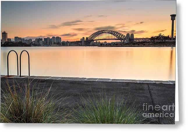 Balmain Greeting Cards - Sydney views from Balmain Greeting Card by Leah-Anne Thompson