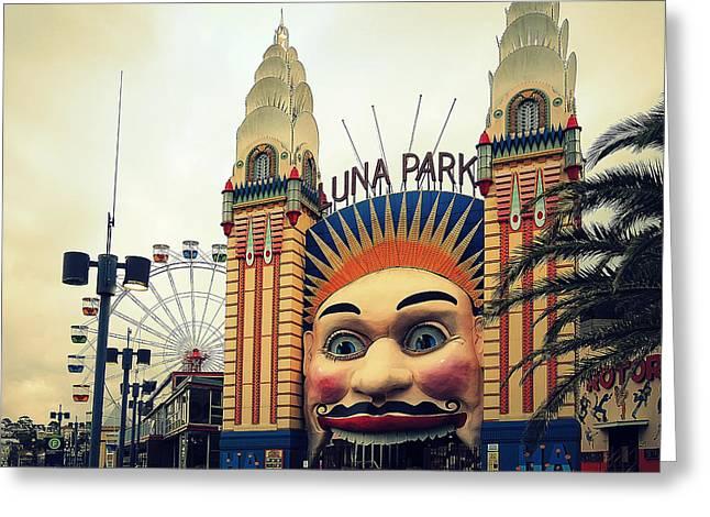 Luna Greeting Cards - Sydneys Luna Park Greeting Card by Mountain Dreams
