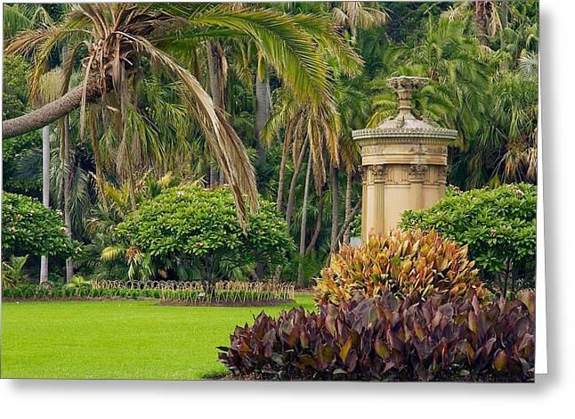 Garden Statuary Greeting Cards - Sydneys Royal Botanic Garden Greeting Card by Stuart Litoff