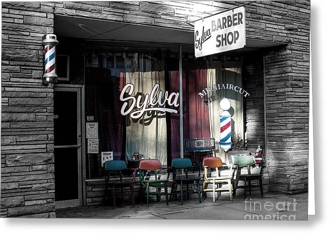 Wcu Greeting Cards - Sylva Barber Shop - 2008 Greeting Card by Matthew Turlington