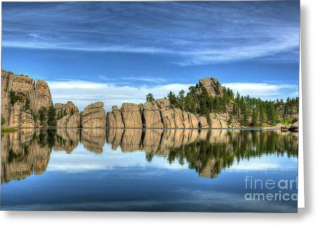 Sylvan Lake Reflections Greeting Card by Mel Steinhauer